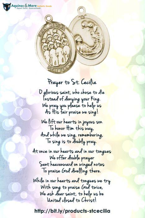 Prayer to St. Cecilia