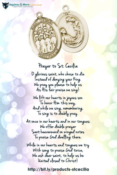 Prayer to St. Cecilia | Quotes and Inspirations ...