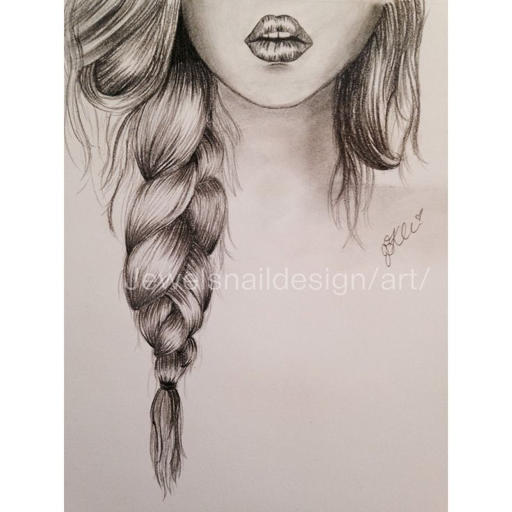 lips braid simple sketch p r e t t y s k e t c h e s