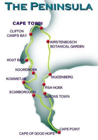 Cape Town -> Cape of Good Hope