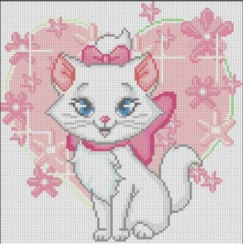 Marie aristocats x-stitch
