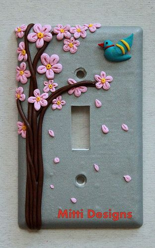 Spring-cherry blossom- switch plate cover