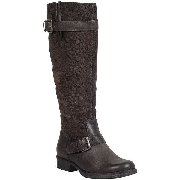 Miz Mooz Archer Women's Riding Boot ($170) ❤ liked on Polyvore featuring shoes, boots, brown, brown leather boots, brown riding boots, brown knee high riding boots, brown leather knee high boots and leather upper boots