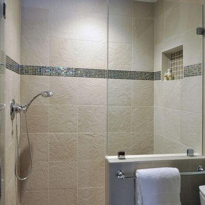 50 best doorless showers images on pinterest - Doorless shower designs for small bathrooms ...
