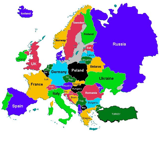 89 best world maps images on pinterest 7 continents world maps image result for world map of europe gumiabroncs Images