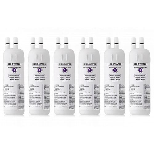 Replacement Water Filter for Whirlpool WRS322FDAM04 / WRS322FDAT Refrigerator Models- 6 Pack