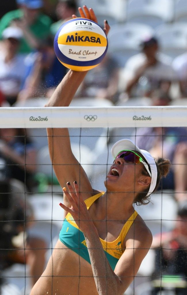 DAY 1: Women's Beach Volleyball - Australia vs Costa Rica - Taliqua Clancy of Australia