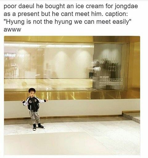 Aww Daeul ate the ice cream when he saw Chen on the SMCafe screen