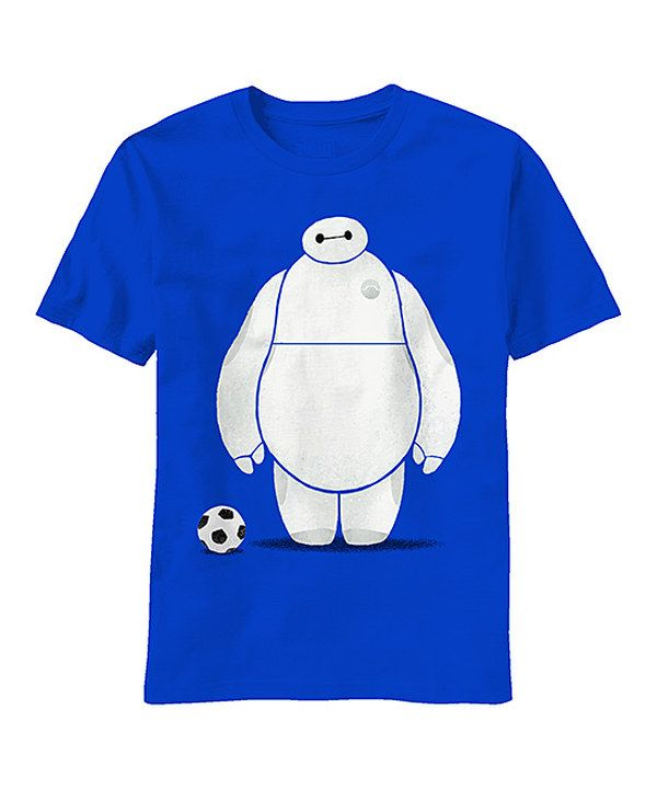 big hero 6 royal blue baymax soccer tee boys