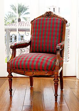 pair of french antique walnut henri ii style armchairs