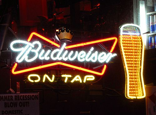 Budweiser On Tap Neon Beer Sign By Wheeltoyz Via Flickr