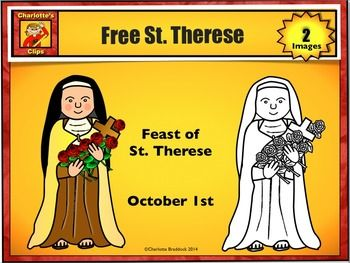 Faith Filled Freebies: Free St. Therese Printable from Charlotte's Clips