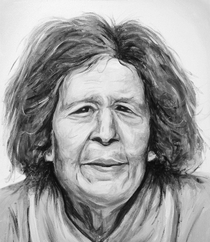 Painting of my wife's grandmother / black and white / portfolio / drawing / art / portrait / acrylic