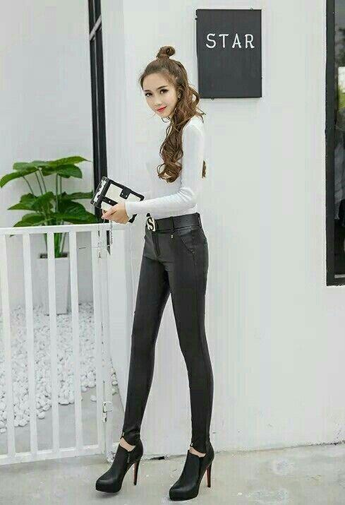 9784fefeea Lederlady ❤ Leder Leggings, Hosen, Sexy Jeans, Röhrenjeans, Schwarze Jeans,  Strumpfhosen
