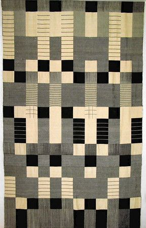 Wall hanging in double-weave technique, Silk 1964 200x120 cm City of Zurich
