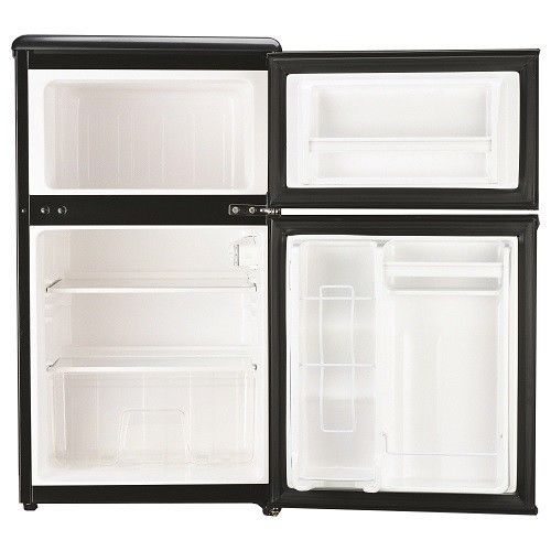 Mini Small Refrigerator Stainless Steel 3.2 Cubic Foot Fridge Freezer Ice Tray  #MiniSmallRefrigerator