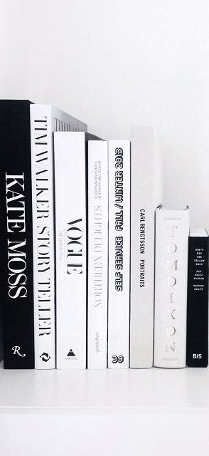 Black and white styling books for the office. Must-have reads.