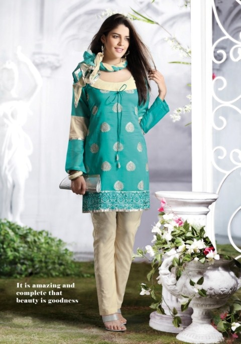 Cotton Unstitched Dress Material  - This season & your Look gets better definition with just a little attention to detail. Be your own style icon with captivating teal blue cotton salwar kameez.