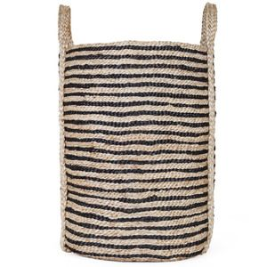 These beautiful jute baskets have been completely handwoven by women working within the Fair Trade programme we partner with in Bangladesh. These talented women combine traditional weaving styles with contemporary designs and using natural materials.    Large Dimensions: Height 50cm Diameter of Base 40cm Handles 35cm