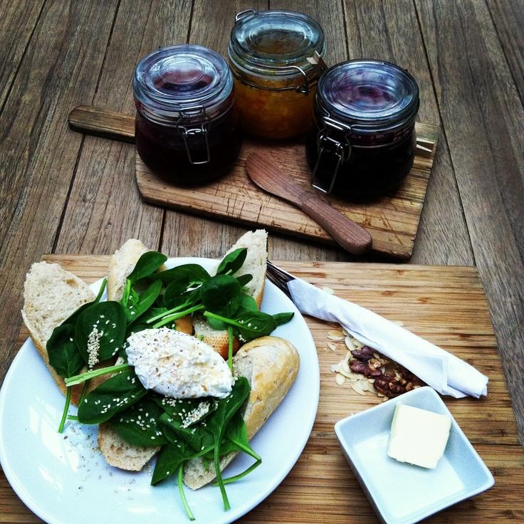 #eggs #breakfast @Weronika Górzyńska unch & wine  #amazing #jam #poznan