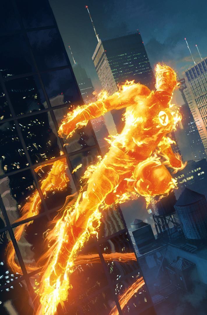 Fantastic Four #645 - The Human Torch by Michael Komarck *