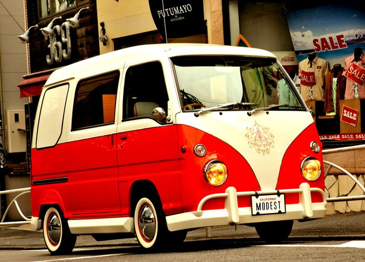 ワーゲンバス仕様|ワーゲンバスをモチーフに軽自動車で制作