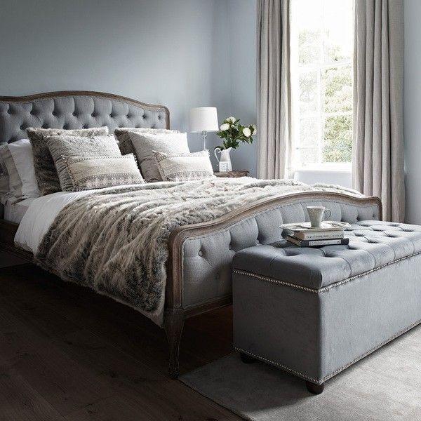Chantal Bed Kingsize Grey Linen Bed Linens Luxury Grey