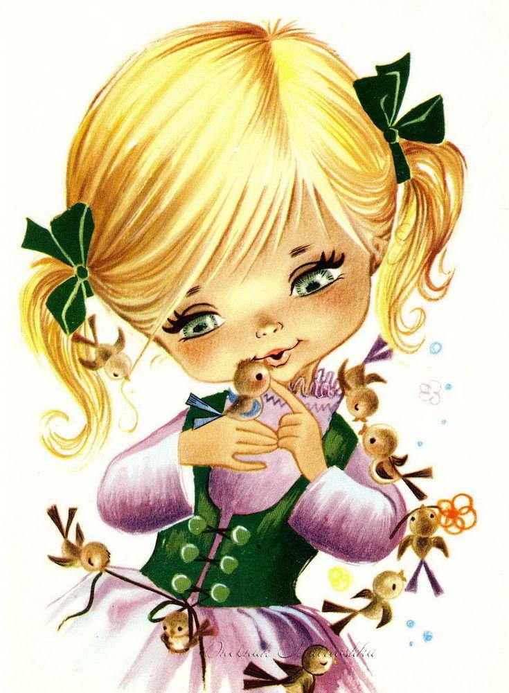 Винтажные детские открытки. Часть 2.. Обсуждение на LiveInternet - Российский Сервис Онлайн-Дневников