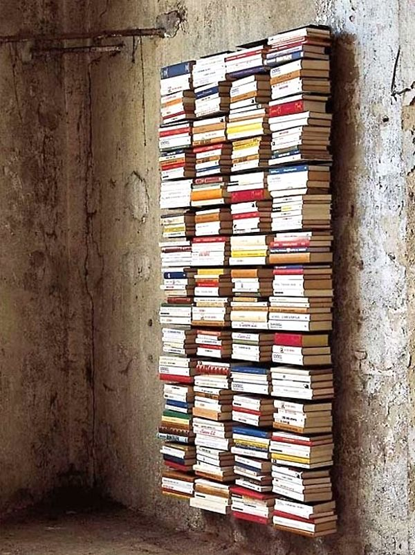 Wall of books. alternative.