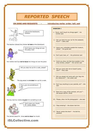 Orders - Statement - QuestionsSix exercises + key - ESL worksheets