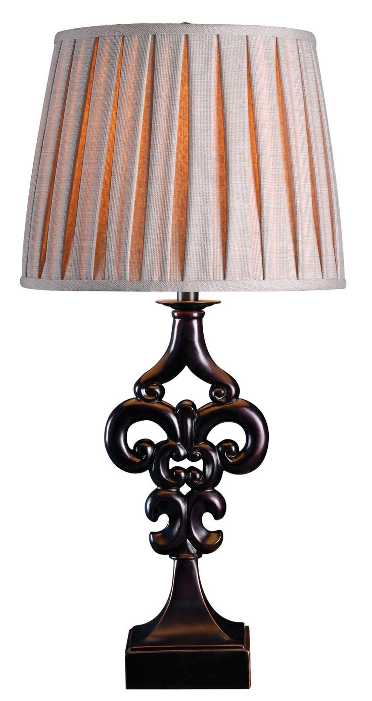 Matching floor and table lamps - Fleur Table Lamp The Fleur De Lis In A Modern Stylization And