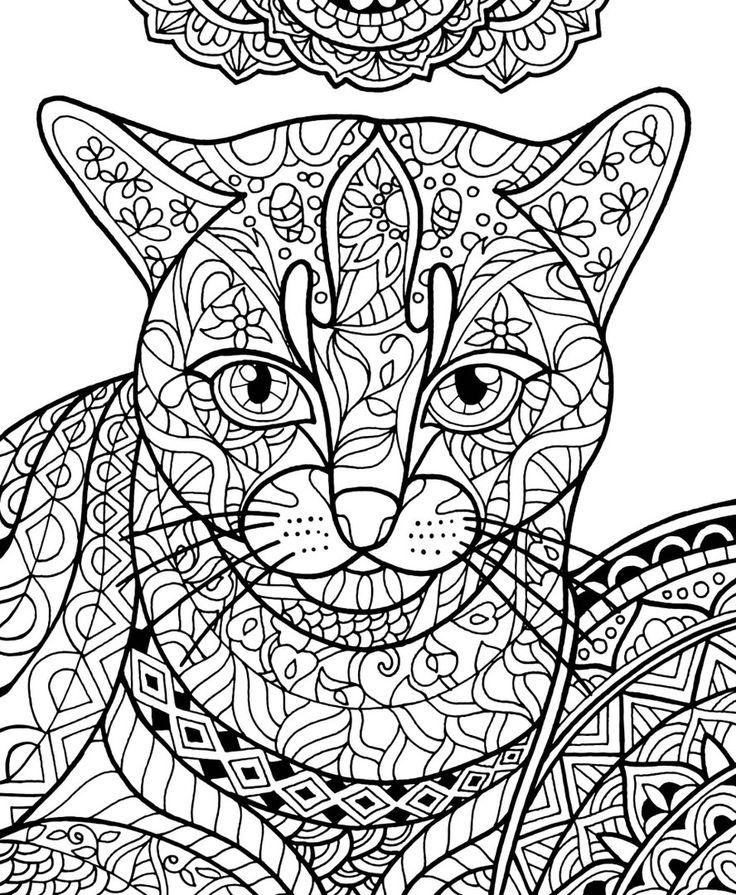 картинки для раскрашивания кошки релакс подход грановский