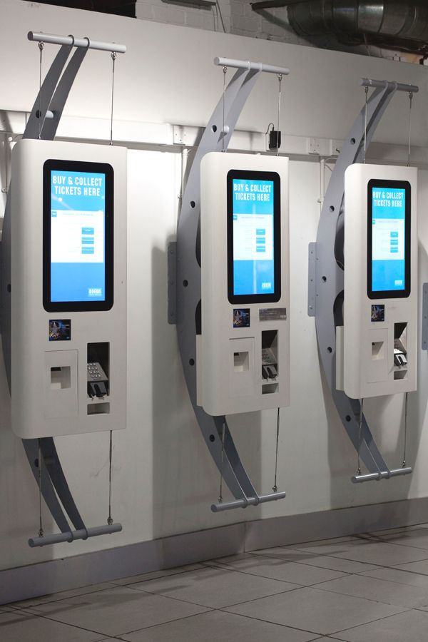 24 inch ATM's designed for Odeon including touchscreen, chip and pin and receipt printer for ticket collection. These units can be hung from a wall mount, a floor mount or incorporated into a totem style stand. Designed and manufactured by 10 Squared.