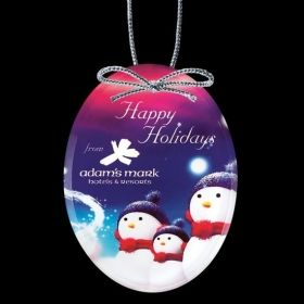 """Promotional Products Ideas That Work: VividPrint™ Ornament - Oval 4"""". Get yours at www.luscangroup.com"""