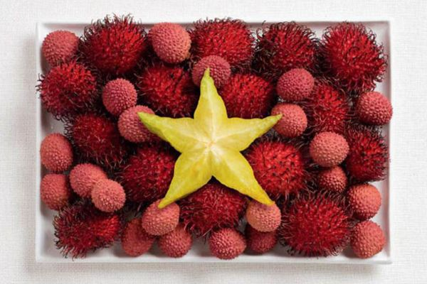 Vietnam Ramputan, liçi, yıldız meyvesi