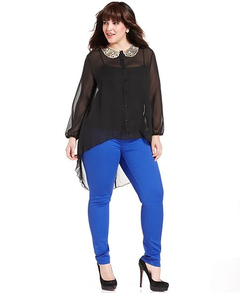 Celebrity Pink Jeans Plus Size Jeans, Colored Skinny - Plus Size Tops - Plus Sizes - Macy's
