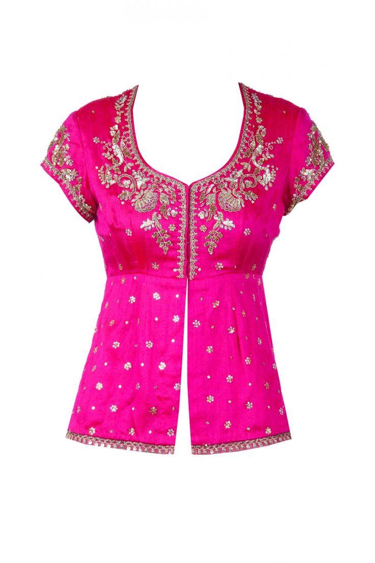 White net lehenga with hot pink blouse available only at Pernia's Pop-Up Shop