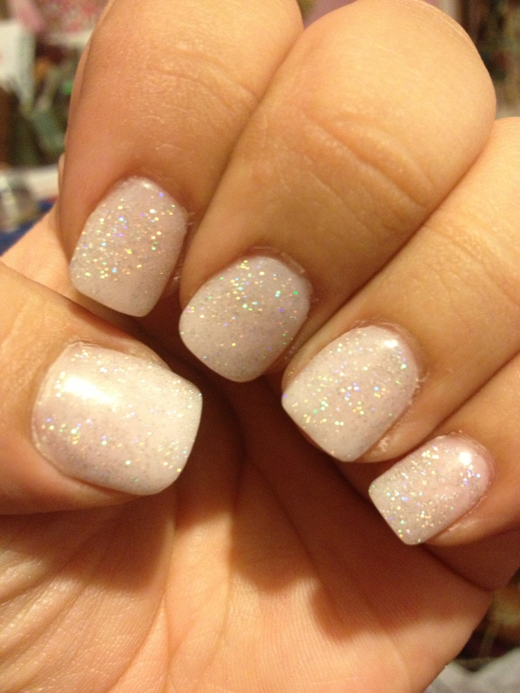 light pink nude acrylic with glitter hair amp beauty