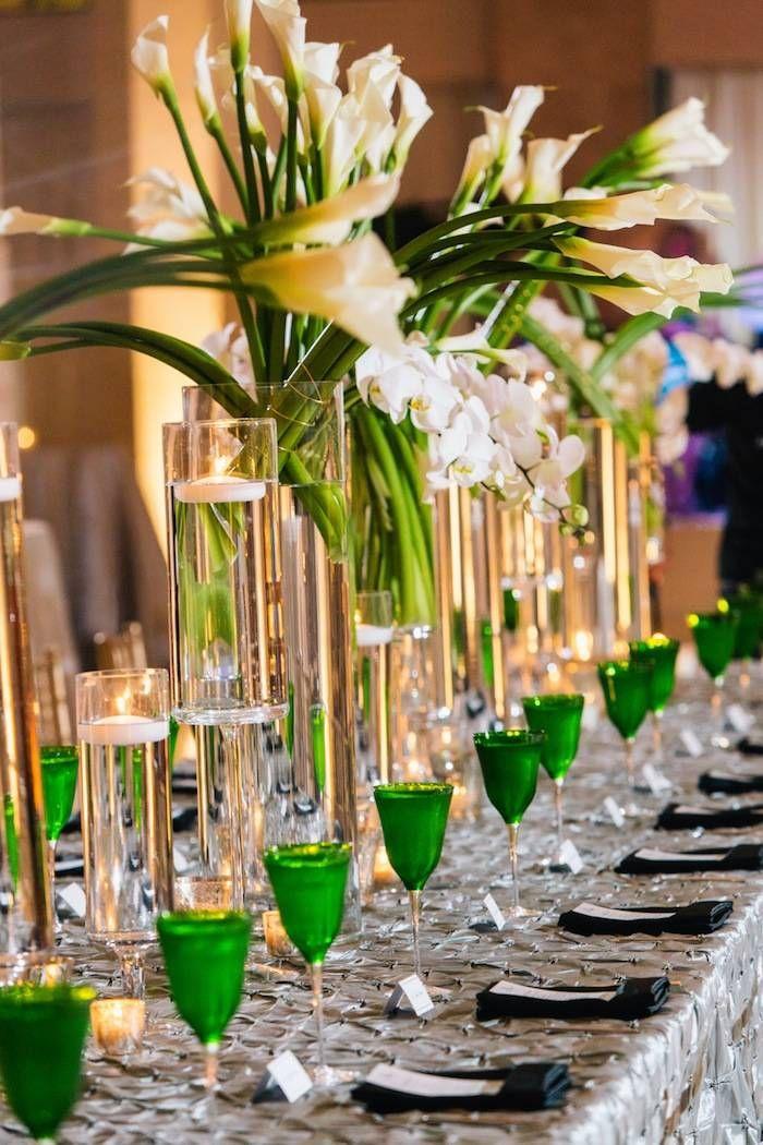 Atlanta Wedding With Glam Decor Lime Green WeddingsTurquoise WeddingsWhite