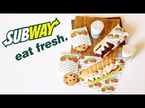 ▶ Subway Sandwiches : How To Make Sub Sandwiches, Cookies, and Drinks with Polymer Clay - YouTube