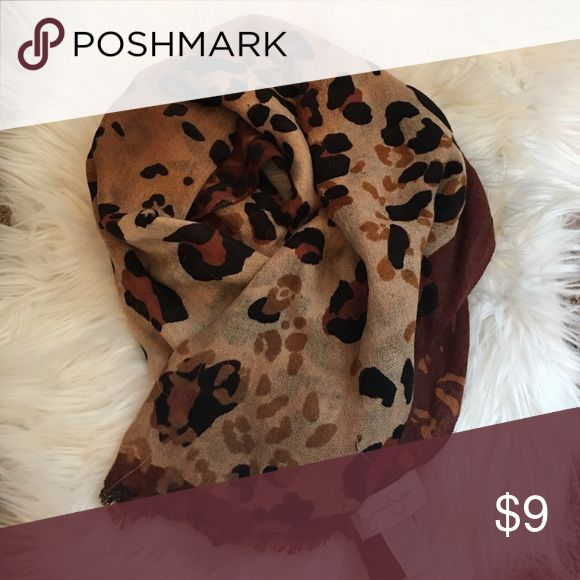 Jessica Simpson Leopard Cheetah Scarf Great condition, perfect for all seasons.- modeled picture to show length Jessica Simpson Accessories Scarves & Wraps