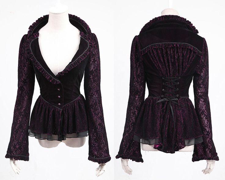Victorian Gothic Black and Violet Ladies Jacket on eBay