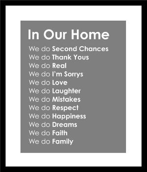 Subway Art In Our Home Family Rules Print  16x20 by karimachal: Good Ideas, Prints 16X20, Subway Art, So True, Rules Prints, Families Rooms, Houses Rules, Family Rules, Families Rules