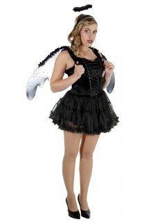 Déguisement ange noir femme