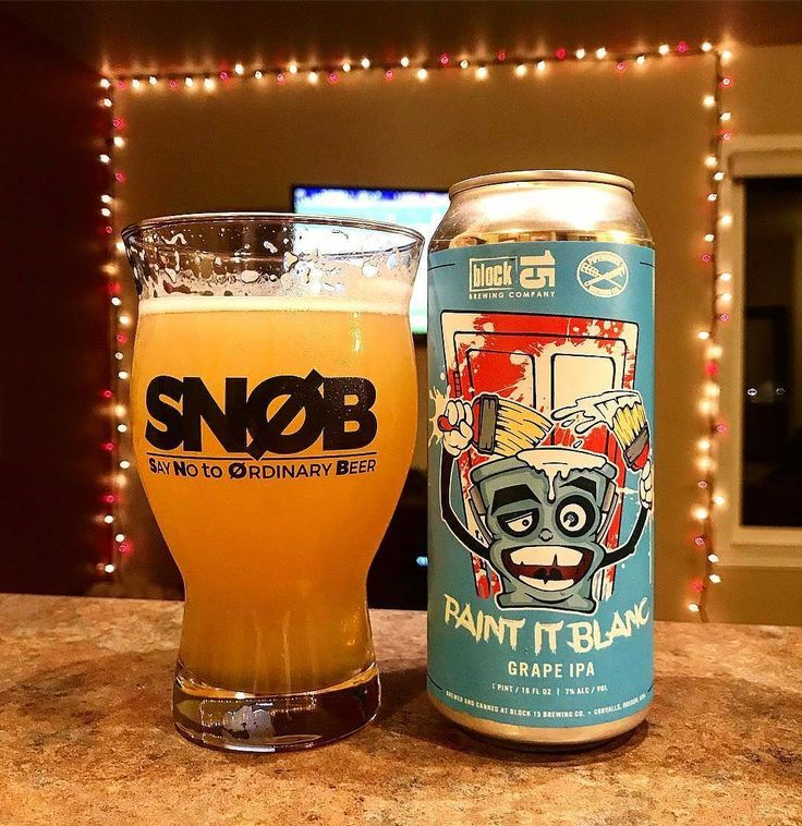 Something Different! Block 15 Brewing Company in Collaboration with Pipeworks Brewing Company - Paint It Blanc -Grape IPA - 7% Alc.  Flavors of white grapes tropical fruits and citric notes. Finishes very dry with moderate bitterness. Discovered via  @pdxcraftbrewchristian   www.craftist.de - Discover new Craft Beer - check it out!   #craftist #craftbeeronly #craftbeersnob #craftbeer  #craftbeerjunkie #craftbeerporn #craftbeernerd #craftbeerlover #craftbeernation #craftbeergeek…
