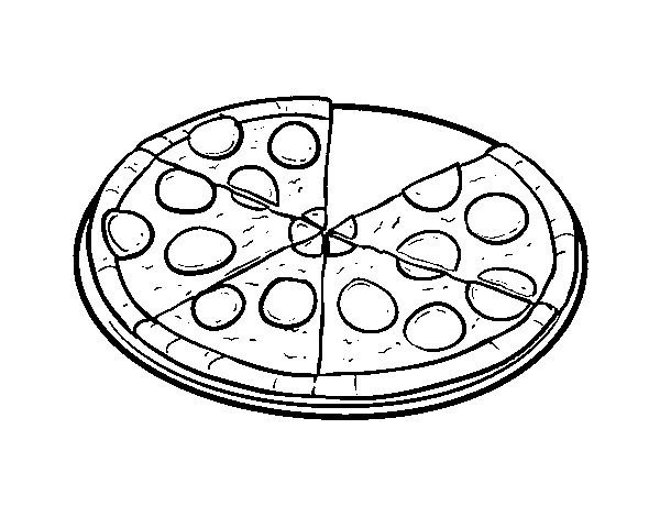 Dibujo Pizza Para Colorear Coloring Pages Coloring Books