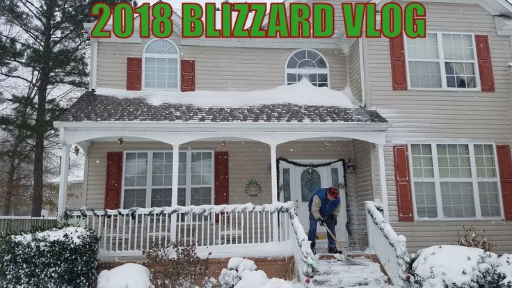 """2018 BLIZZARD VLOG!!!  We've been having a lot of fun today in the snow. When we took the truck out, we realized just how slippery the roads are. This is a very dense and wet snow; it's almost like driving on solid ice. If you don't absolutely need to go out today, please stay home and watch a movie.  Stay safe everyone and have a happy new year. Our snow total is 12"""" Inches (One Foot)"""