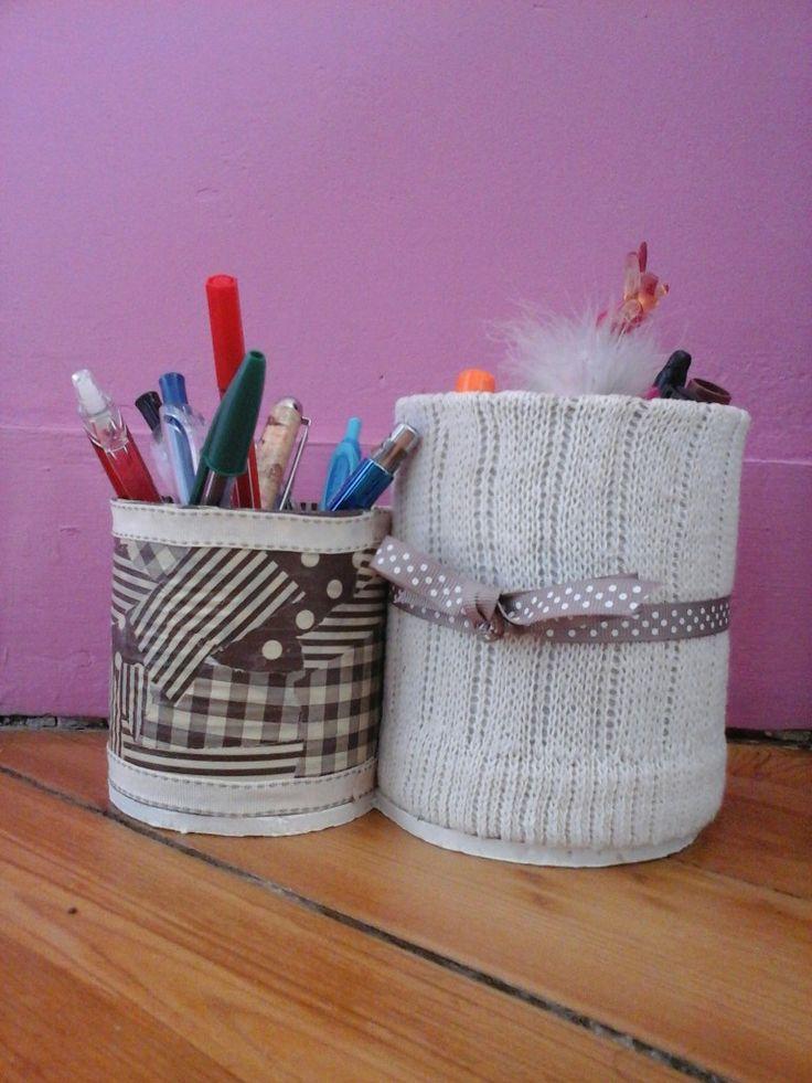 Deux pots facile pour decoré sont bureau