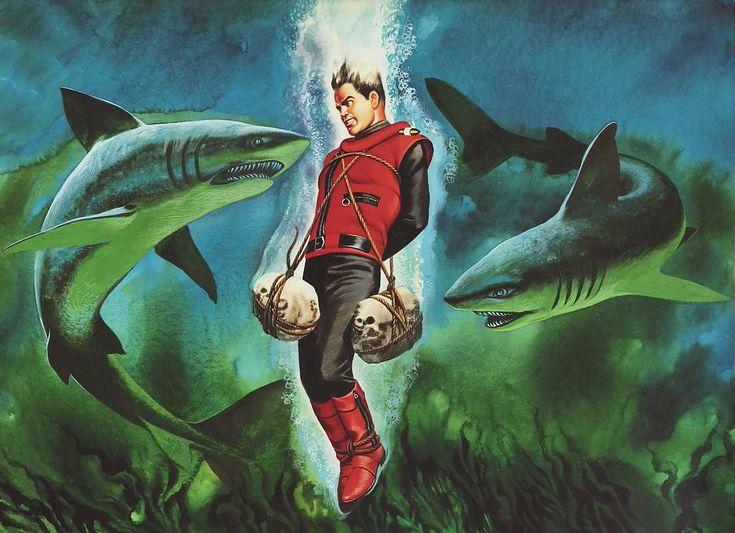 Captain Scarlet. End credits illustrations.