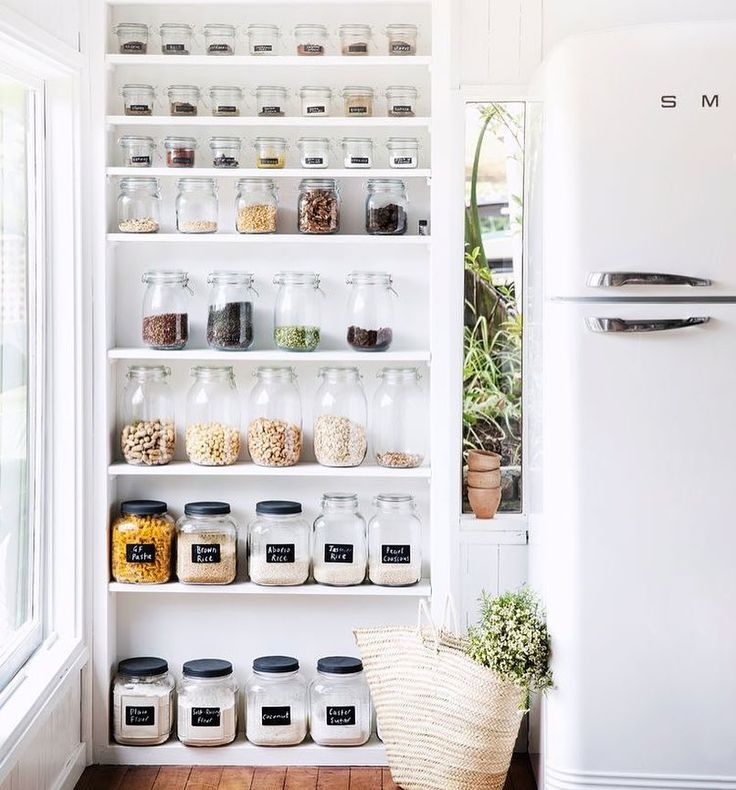 Does anyone else's heart skip a beat at the sight of this gorgeous, organised pantry? #pantrygoals #organised #kitchendesign 📷 via @homestoloveau   #pantry #interiordesign #decor #kitchengoals #organisedpantry #organisation #labels